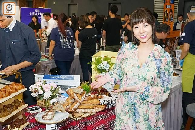 黃婉曼開設的手工烘焙店,首次參加美食博覽。(攤位編號:3B-E19)(莫文俊攝)
