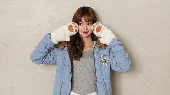 6215 貓爪手套 可觸控保暖絨毛手套 BOY2