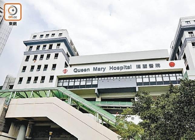 瑪麗醫院1名末期肺癌女病人,用圍巾綑縛頸部及病床手拉架後不治。