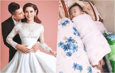 Lâm Khánh Chi lần đầu khoe ảnh cận mặt con trai đầu lòng