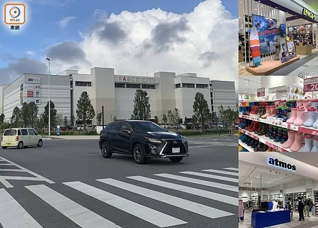 全新的購物商場Parco City於那霸以北的浦添市開幕了。(李家俊攝)