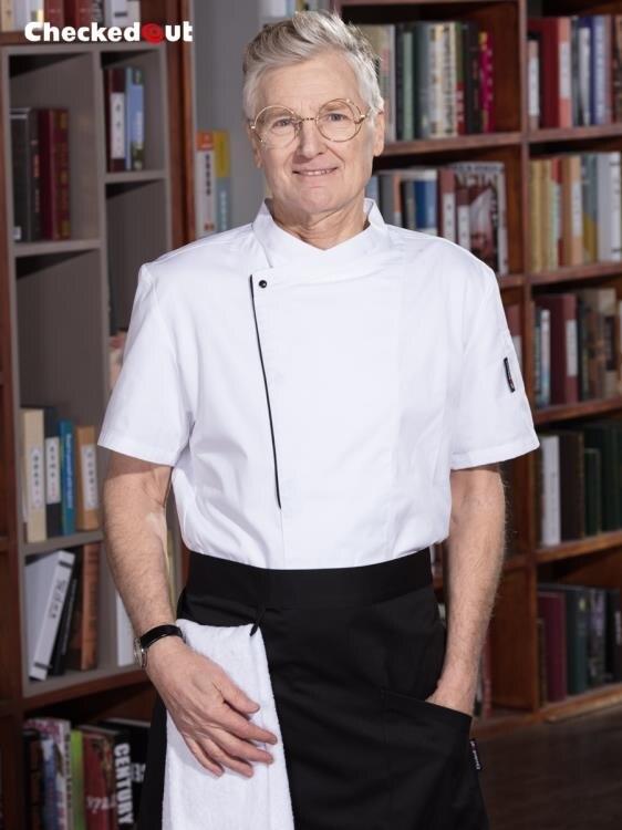 廚師工作服男短袖廚房工作制服廚衣西餐廳飯店後廚廚師服長袖夏季
