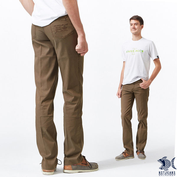 【NST Jeans】溫柔日系感 冷咖啡色 吸濕排汗休閒長褲(中腰) 390(5670) 台製 紳士 男 夏季薄款