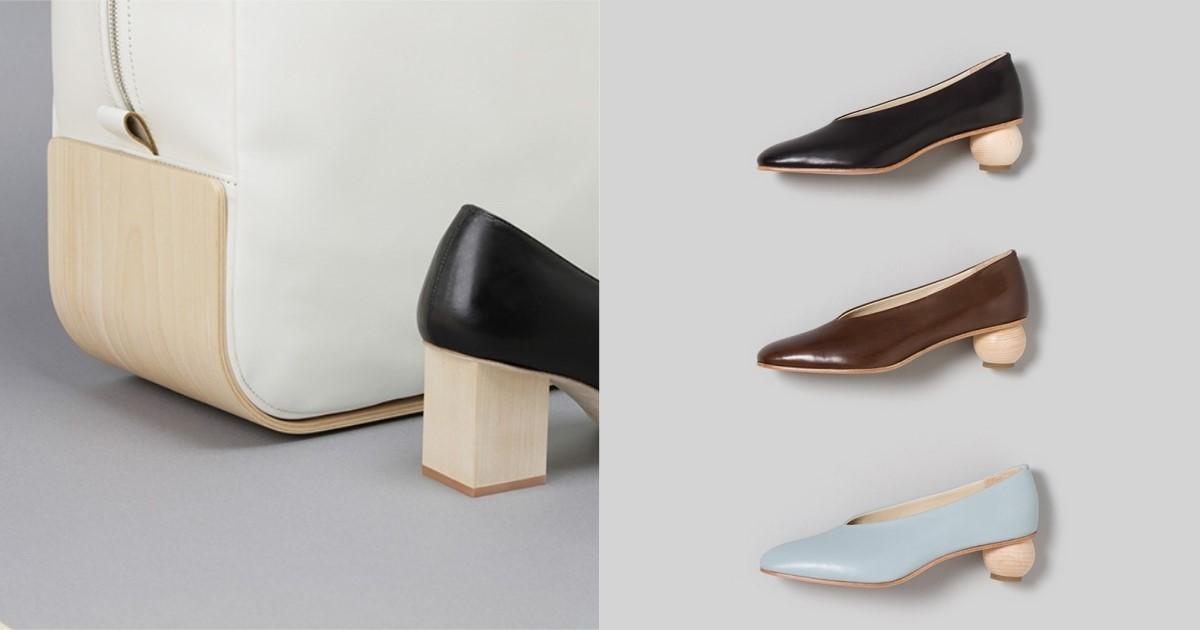簡約系女子的私藏鞋履,日牌「_Fot」以木頭打造質感跟鞋