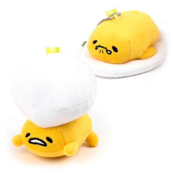 蛋黃哥吊飾 頂球/趴躺造型絨毛軟質吊飾/公仔/玩具/療癒小物 [喜愛屋]