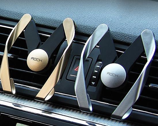 ROCK車載手機支架汽車用出風口車內卡扣式多功能創意車上導航支撐