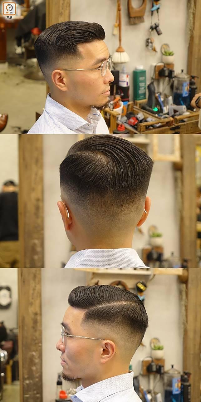 硬朗Side Part髮型最適合父親們,整齊有型亦易於打理,只要抹上髮油稍作梳整就可以出門,最啱每朝都趕返工的男士。(胡振文攝)