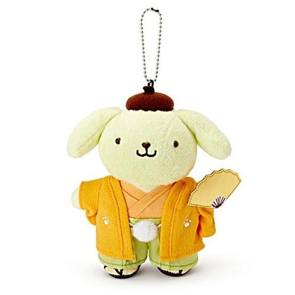 【震撼精品百貨】Pom Pom Purin 布丁狗~Sanrio 布丁狗日式和服造型玩偶吊鍊#30756