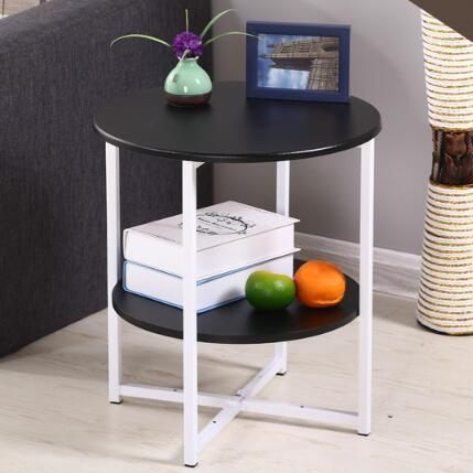 小茶几簡約迷你沙發邊几邊櫃小圓桌現代簡約客廳電話架小邊桌角几