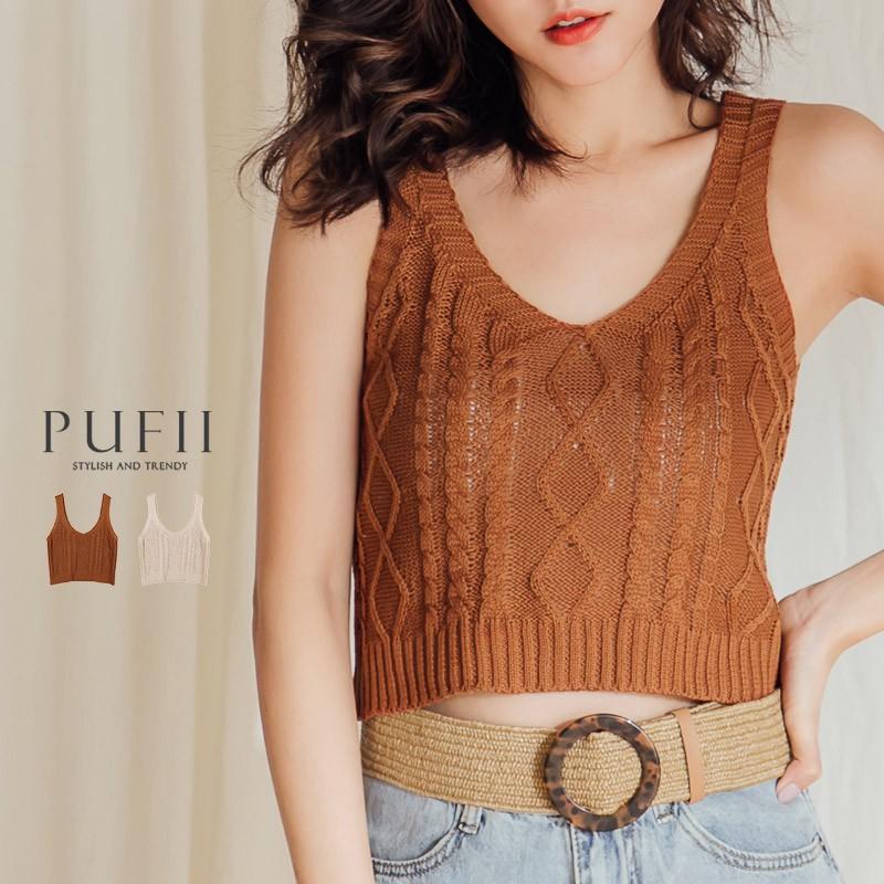 PUFII-針織背心 麻花針織背心-0627 現+預 夏 【CP16972】