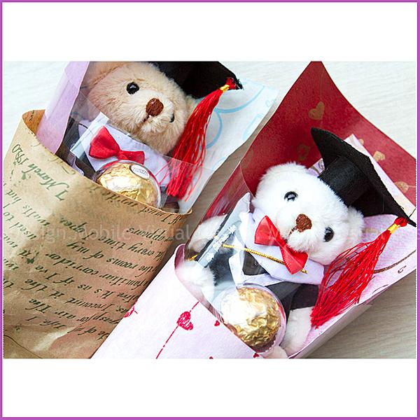 學校畢業典禮/畢業禮物/畢業紀念/拍照小熊花束/送小朋友/送同學/活動禮贈品幸福朵朵
