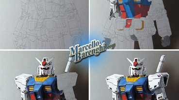 國外插畫家用色鉛筆 繪製出超寫實擬真RX-78鋼彈
