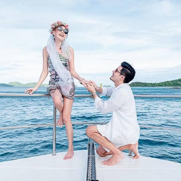 ทะเลหวาน!! เชน คุกเข่าขอ แพร แต่งงานบนเรือหรู