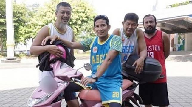 Tunggangan Sandiaga Uno Honda Beat (Facebook)