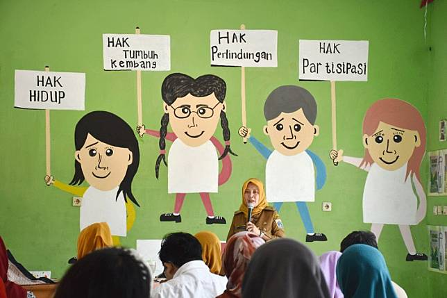 Children's rights campaign at Jakarta's Cipinang child-friendly public space in East Jakarta in this undated file photo.The coronavirus pandemic will have a