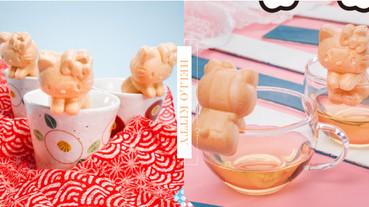 日本栗庵風味堂「Hello Kitty最中餅」化身杯緣子!超萌Kitty餅皮,還可掛杯緣超療癒