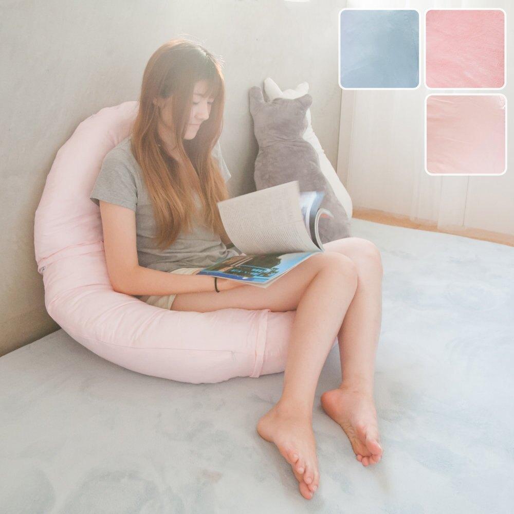 附毯側睡抱枕 U型枕 哺乳枕 海馬枕 男友枕 孕婦側睡枕 附空調毯 WARM COOL【M001】