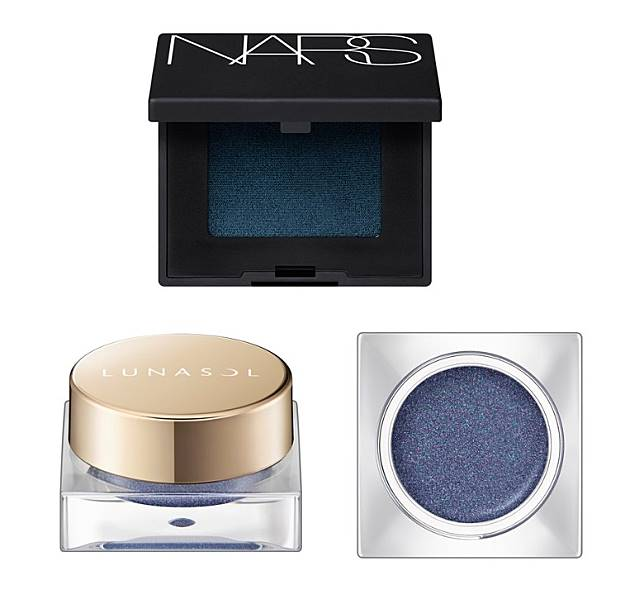 上:Nars Single Eye Shadow/ 下:Lunasol Glam Wink Eye Shadow(互聯網)