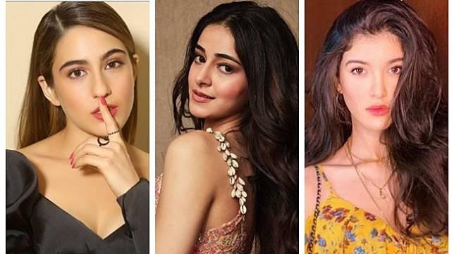 Sara Ali Khan, Ananya Panday, dan Shanaya Kapoor. [Instagram]