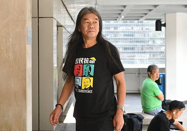 「長毛」梁國雄早前就《禁蒙面法》入稟高等法院申請司法覆核。