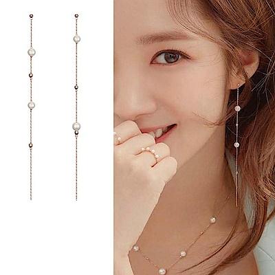Hera 赫拉 韓款925銀韓劇她的私生活珍珠垂墜耳針/耳環