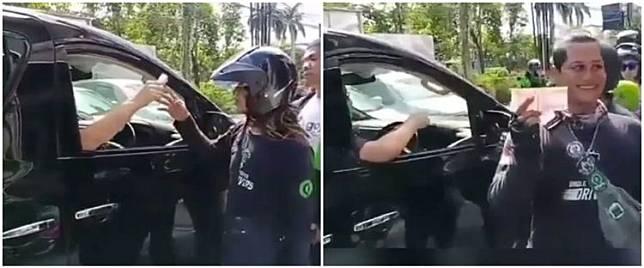 Viral aksi pengendara mobil bagi uang Rp 100 ribu saat wabah corona