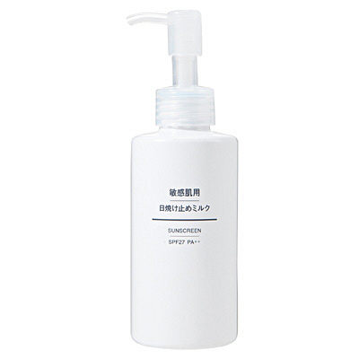 MUJI 無印良品 敏感肌用日用防曬乳液 150ml SPF27/PA++