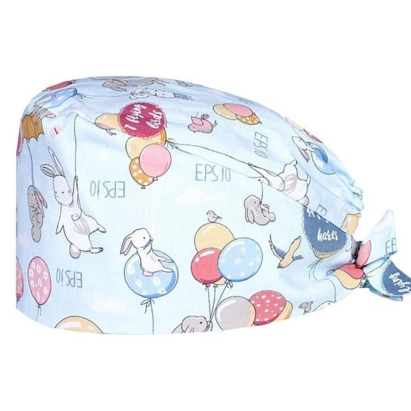 頭巾帽 南歐魚棉印花手術帽女醫生護士帽家居帽防塵防油煙帽防掉發月子帽 曼慕衣櫃