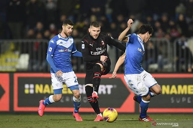Gol semata wayang Rebic bawa Milan tundukkan Brescia