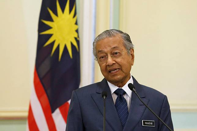 Malaysia's Prime Minister Mahathir Mohamad speaks during a joint news conference with Singapore's Prime Minister Lee Hsien Loong (not pictured) in Putrajaya, Malaysia April 9, 2019.