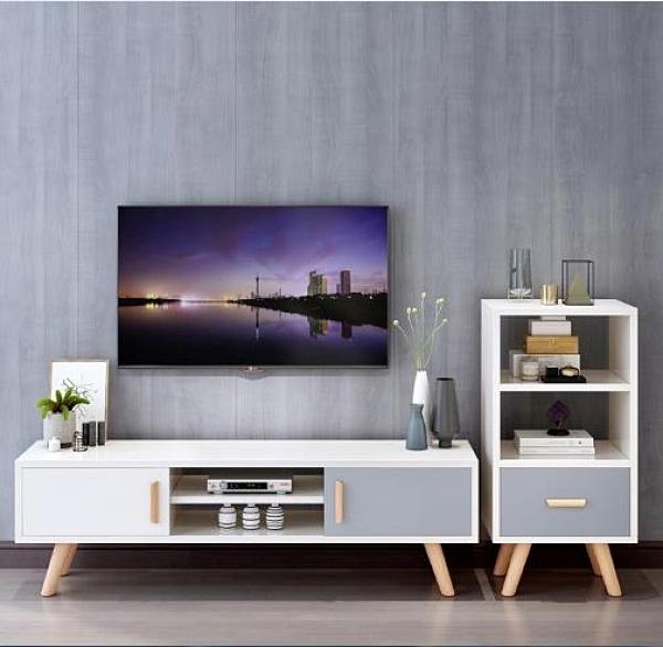 電視櫃 2020新款北歐電視櫃茶幾組合現代簡約小戶型家用客廳臥室簡易地櫃 DF 艾維朵