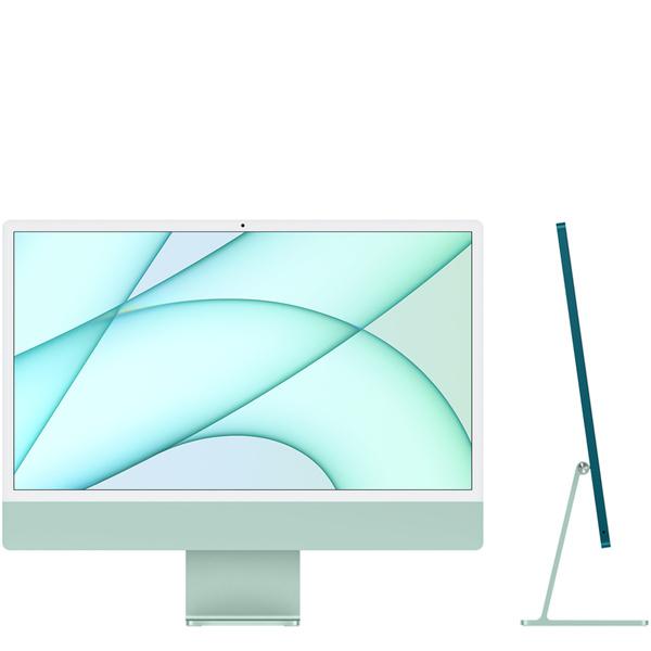 24 吋綠色 iMac 配備 4.5K Retina 顯示器 -