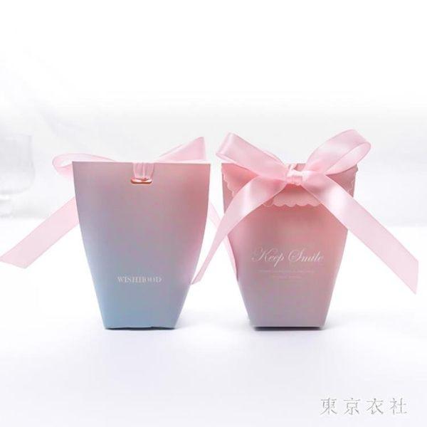 創意歐式糖果禮盒裝結婚禮新款喜糖盒粉色個性小號紙盒子網紅袋子
