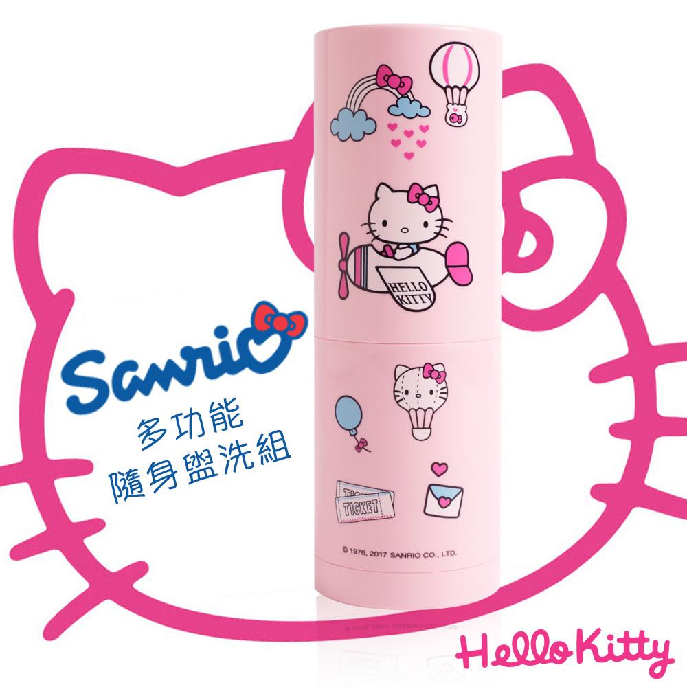 Hello Kitty多功能隨身盥洗組,陪您一起去旅行 ️ 沐浴乳、洗髮精、牙膏、牙刷、扁梳、鏡子、毛巾、漱口杯 甜心粉紅Kitty,輕鬆搞定盥洗收納,旅途瞬間變彩色 *牙刷及牙膏為拍攝道具,非為商品