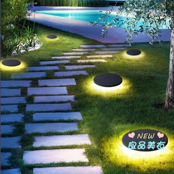 太陽能燈 現代防水庭院燈戶外草坪燈花園景觀燈室外工程草地插地燈T 2色