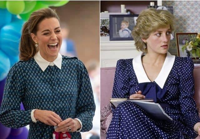 Contek Lady Diana, Kate Middleton Kenakan Gaun Kerah Putih Rp 9,1 Juta