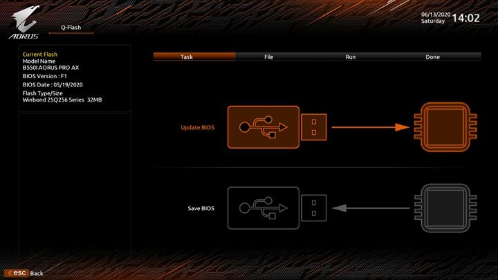 除了透過IO背板上的Q-Flash Plus按鈕外,也可以在BIOS利用「System Info.>Q-Flash」選項,進行BIOS的更新升級作業。
