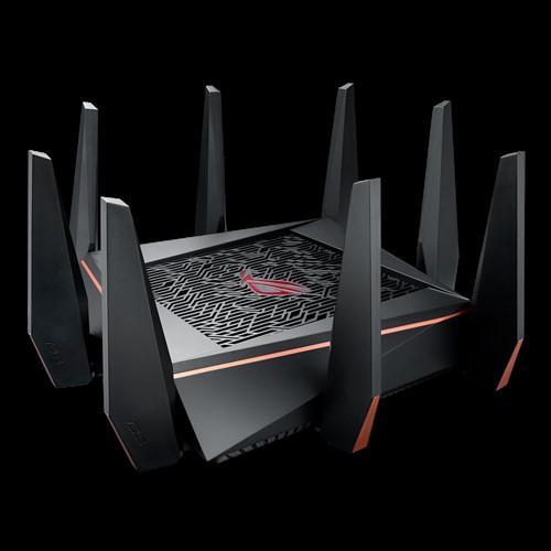 三頻無線電競路由器AC5300三頻Gigabit無線電競路由器-適用VR和4K串流、搭載無敵四核心處理器、遊戲埠、AiMesh 家庭 WiFi 系統、WTFast 遊戲加速器、可調式 QoS 、趨勢科