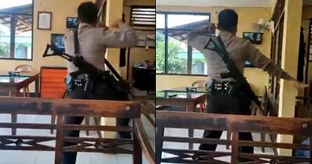 Aksi polisi tirukan tarian Jawa lewat YouTube, bikin salut