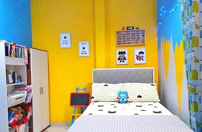 Kamar Anak Laki-laki Berwarna-warni di Rumah Cantik  @mamia_cania