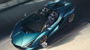 Lamborghini 推出混能超跑 Sián Roadster 開篷車!