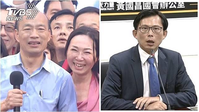 國民黨總統參選人韓國瑜妻子李佳芬(左)、時代力量立委黃國昌(右)。圖/TVBS資料照