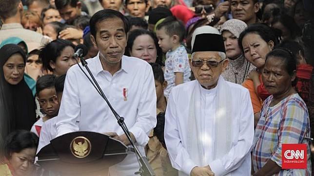 Daftar Lengkap Menteri Kabinet Indonesia Maju Jokowi Joko Widodo dan Ma'ruf Amin telah mengumumkan nama-nama menteri dalam kabinet 2019-2024 (CNN Indonesia/Adhi Wicaksono)