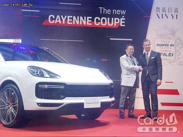微風信義年度盛會「信義之夜」以「王者潮流」為主題,獨家展出Cayenne Coupé新車款(圖/卡優新聞網)