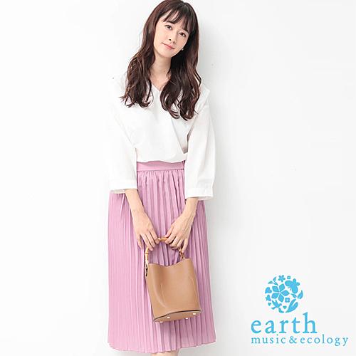 ■Premium Label■ 素面上衣+百摺長裙的搭配 打造極具魅力的氣質穿搭