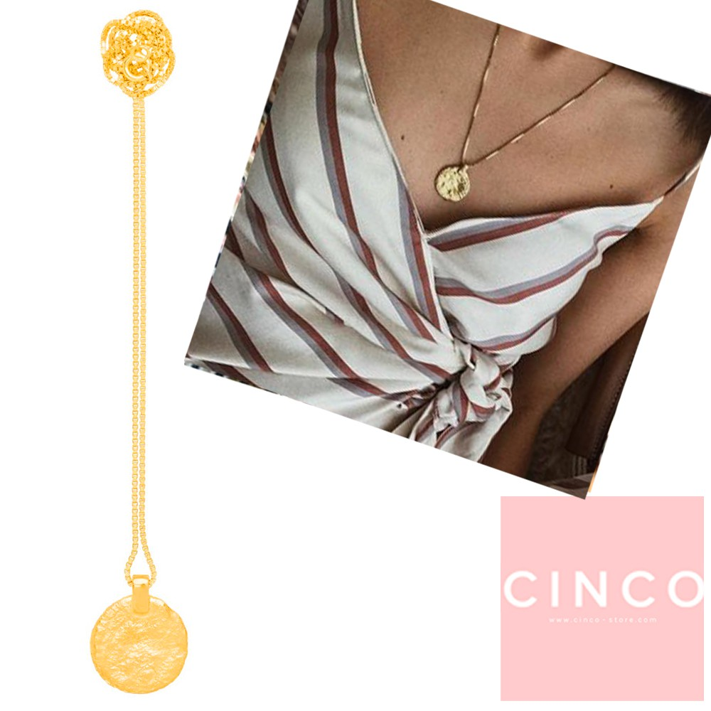 葡萄牙精品 CINCO 台北ShopSmart直營店 Matilda necklace 24K金硬幣項鍊 古典款