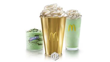 McDonald's 推出金色薄荷味奶昔杯,價值十萬美元!