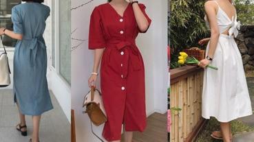 韓國小姐姐最近愛穿它上街!這款文青長洋裝讓女漢子一秒變身文藝少女