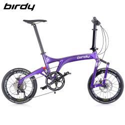 Birdy New Birdy(Ⅲ)R 11SP 11速18吋公路車幾何前後避震折疊車-閃電紫