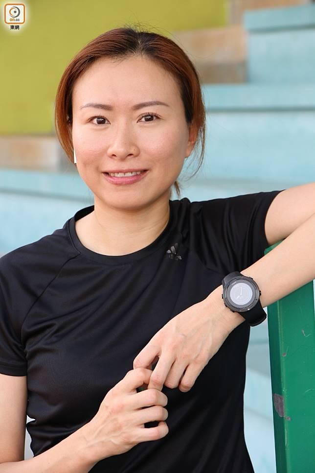 Cherry︰「Suunto 5輕身得來又能GPS定位,適合女運動員使用。」(張錦昌攝)